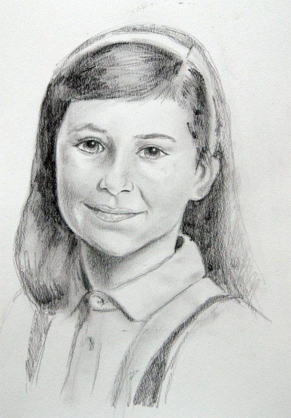 Retrato al pastel