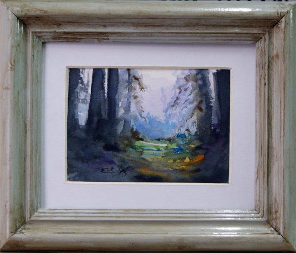 Bosque Azul. Acuarela
