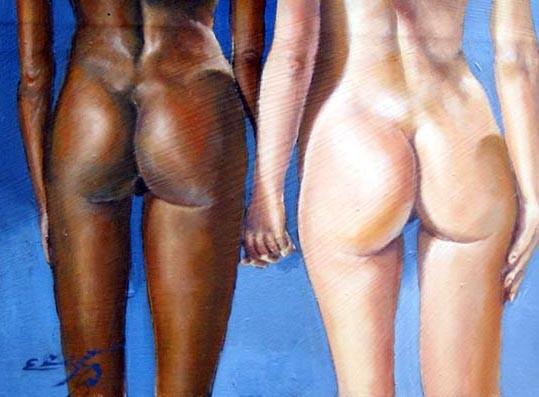Traseros femeninos. Oleo
