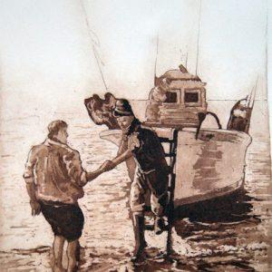 la Pesca-II. Grabado