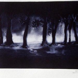 El bosque. grabado