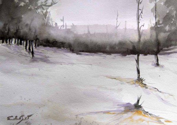 El Bosque violeta