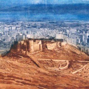 Almeria vista general. Grabado Calcografico